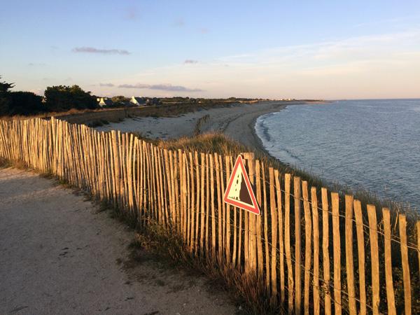 Chemin côtier sur la dune - Lechiagat