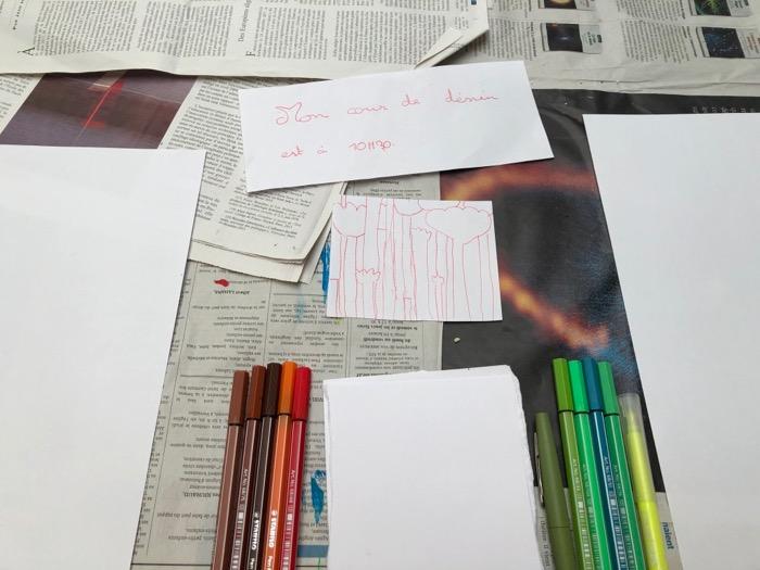 Atelier dessin - la forêt