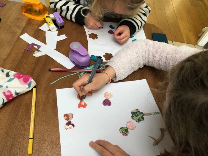 Atelier découpage et collage de papiers japonais