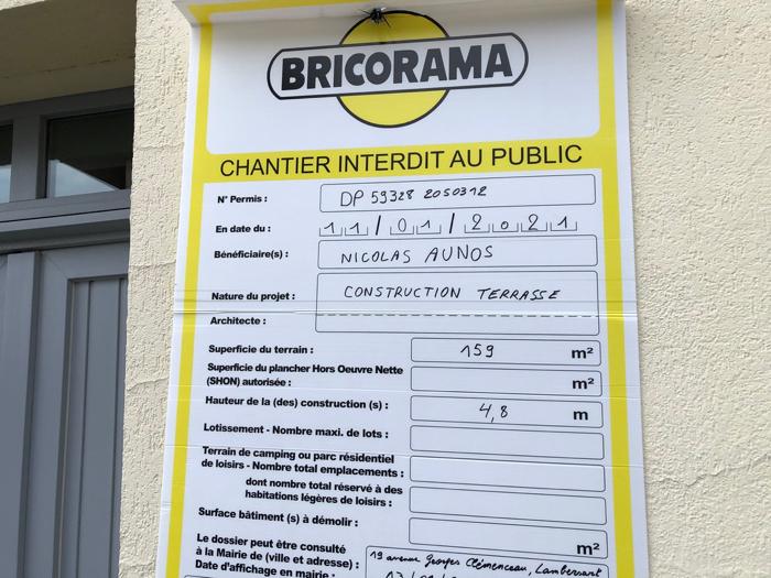 Affichage avant aménagement - Lambersart