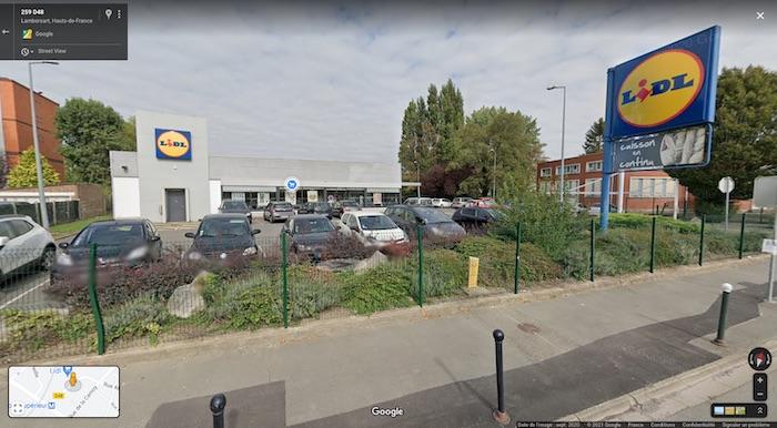 Supermarché Lidl, avant travaux de 2021 - Lambersart