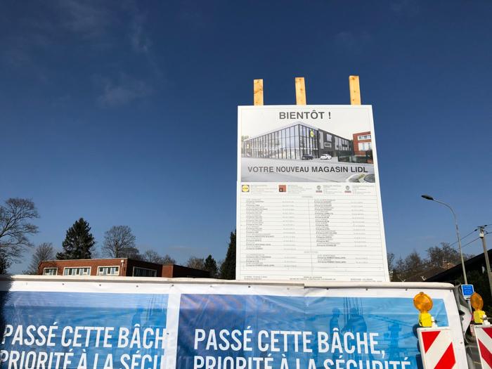 Supermarché Lidl, vue artistique post-travaux de 2021 - Lambersart