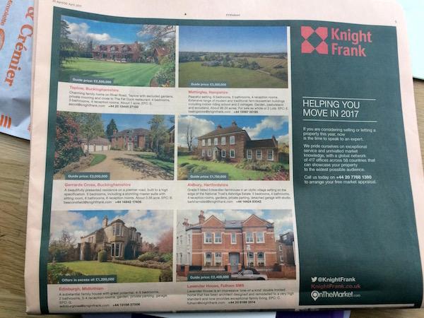 Des maisons de luxe en Grande-Bretagne