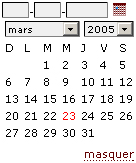 calendrier ouvert