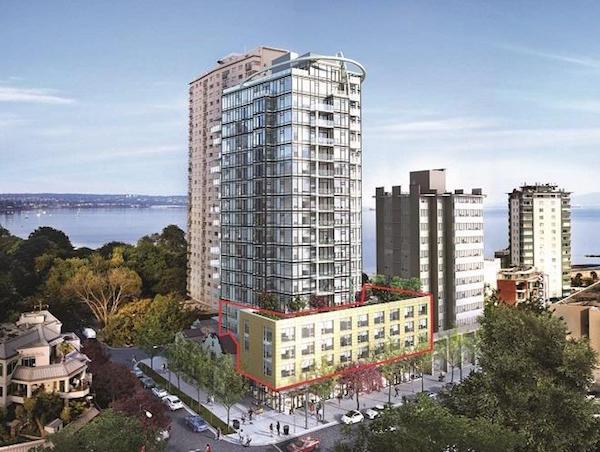 Lot habitations en tour / commerces en rez-de-chaussée à Vancouver